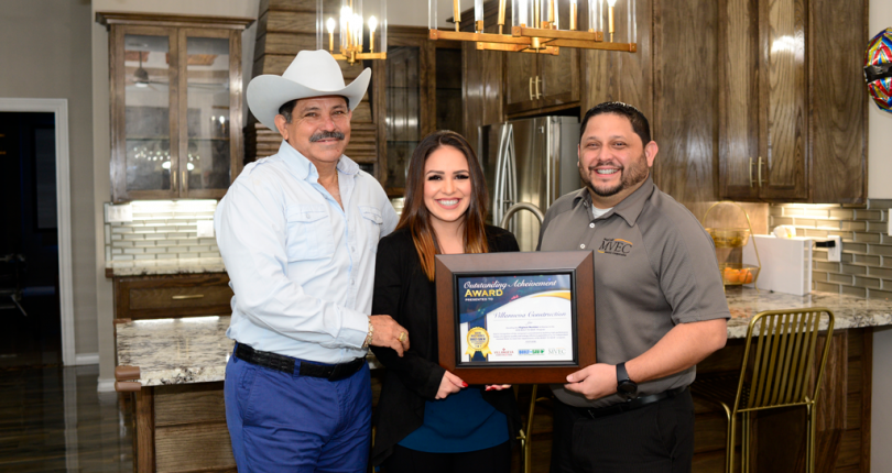 BUILT TO SAVE™ Award of Recognition Presented to Villanueva Construction