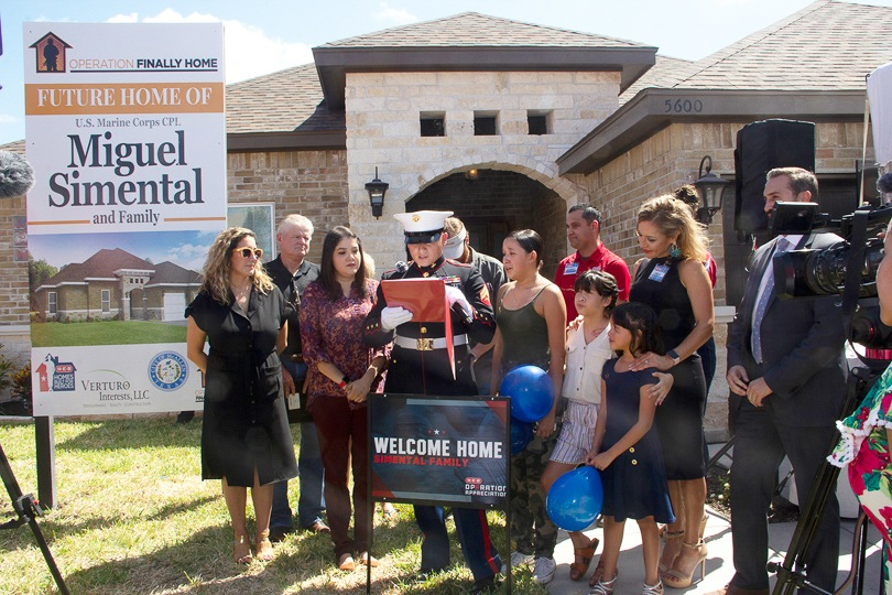 U.S. Marine Corps Corporal Miguel Angel Simental Receives Mortgage-Free Home