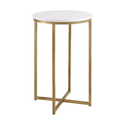 "16"" X Base Glam Round Side Table - $64.49"